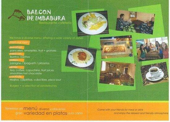 Balcon de Imbabura: Brochure Page 2