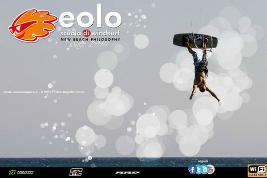 Eolo Scuola di Windsurf: kitesurf on Torregrande