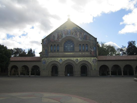 Stanford University: Exterior of Memorial Church, January 2013