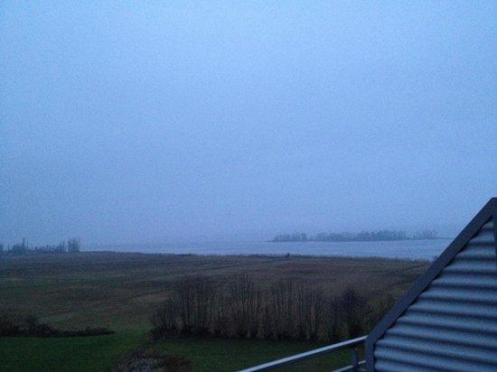 Seedamm Plaza: Blick vom Balkon (leider war das Wetter nicht gut)