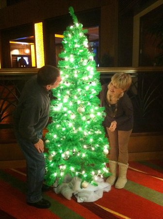 Renaissance Charlotte SouthPark Hotel: My husband and I having a little fun around the tree