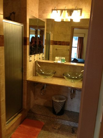 Chelsea Pines Inn: large bathroom, room 501
