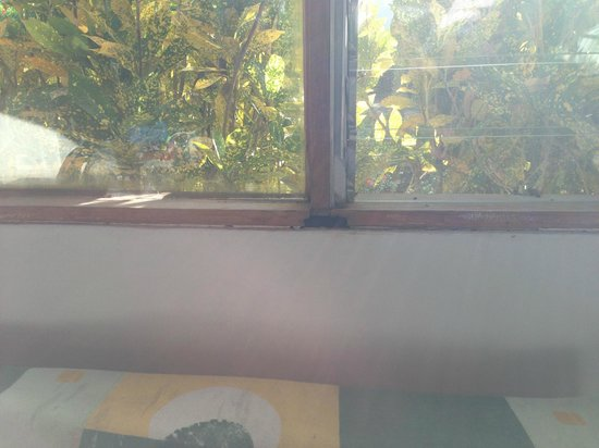 Hotel Villas Playa Samara: Window sill falling apart