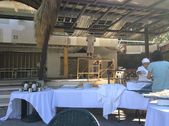 Hotel Villas Playa Samara: Dining area under construction