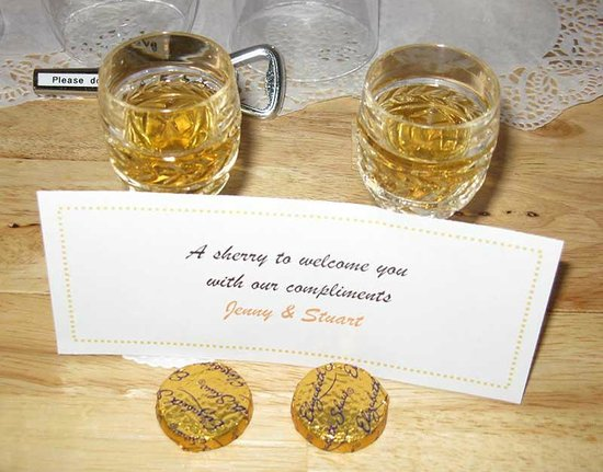 Beech Hill House: Complimentary Sherries