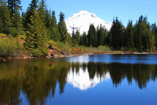 Mount Hood National Forest: Mount Hood from Mirror Lake