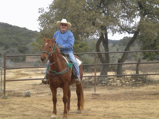 Rancho Cortez: Me on Red on a cold day 