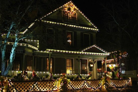 "The Cedar House Inn: The house all lit up during ""nights of lights"""