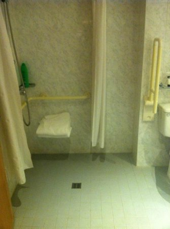 Grand Canal Hotel : This was an handicap room. Bathroom in the other one had a bath instead and was slightly smaller