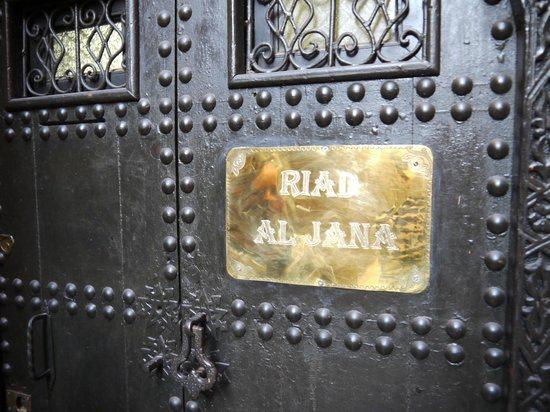Riad Al Jana: Front Door