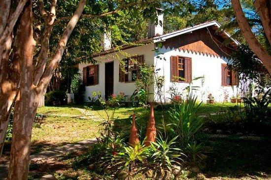 Pousada Vale das Hortensias: Vista dos apartamentos que dão para o Jardim