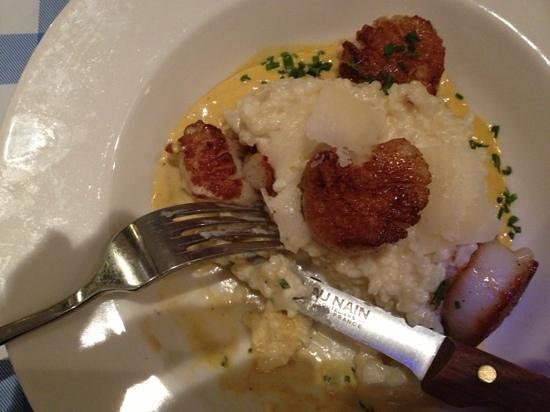 Ripailles: scallop risotto