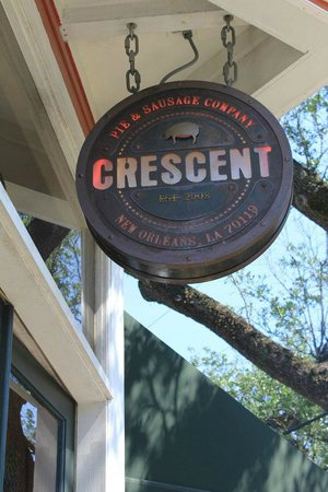 Crescent Pie & Sausage: Outside the restaurant