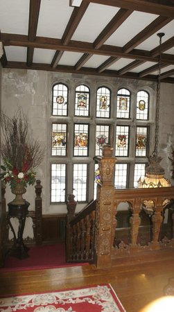The Castle at Skylands Manor: this beautiful details in the glass are over 400 years old! imported from England