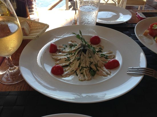 Il San Pietro di Positano: Sauteed Anchovies... Amazing, even for one who never liked Anchovies!