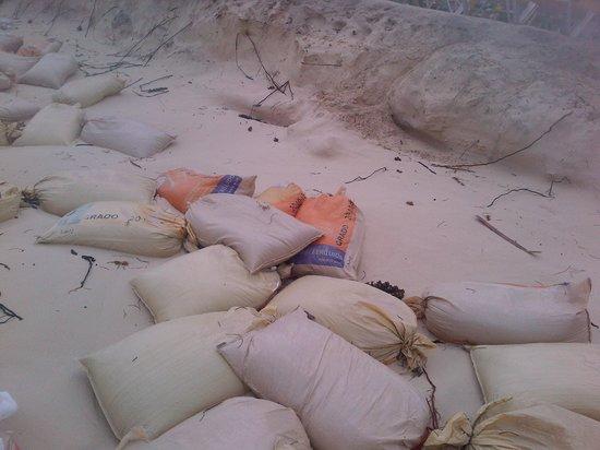 Ocean Blue & Sand: Bolsas de Arena para detener el Mar