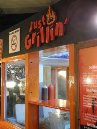 Just Grillin' : pick up counter
