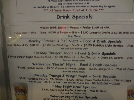 Ivy League Bar and Grill: reasonably priced