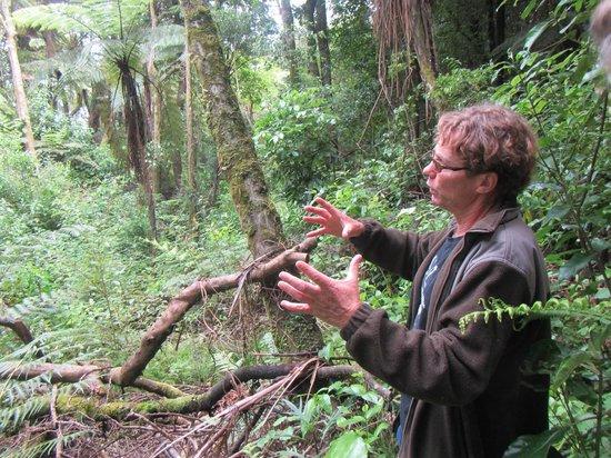 Mount Tutu Eco-Sanctuary: Tim sharing on morning hike
