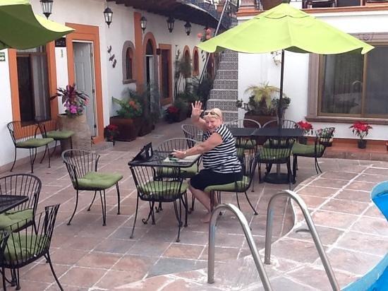"""Hotel Quinta Rio Queretaro: our """"private"""" courtyard!"""