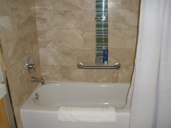 Loews Miami Beach Hotel: Vasca con doccia