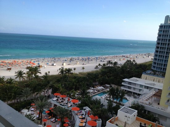 Loews Miami Beach Hotel: Dal balcone: lato ocean view