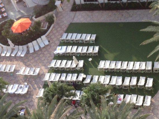 Loews Miami Beach Hotel: I lettini sono proprio molto  vicini..