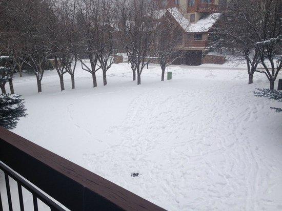 Arrowhead Village Condominiums : Our view from deck at THE SEASONS at Arrowhead Village