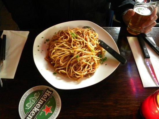 Spaghetti bolognese at Venezia del Nord