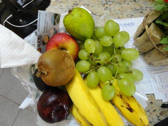 Malibu Palace Hotel: En la habitacion ofrecen gratuitamente frutas
