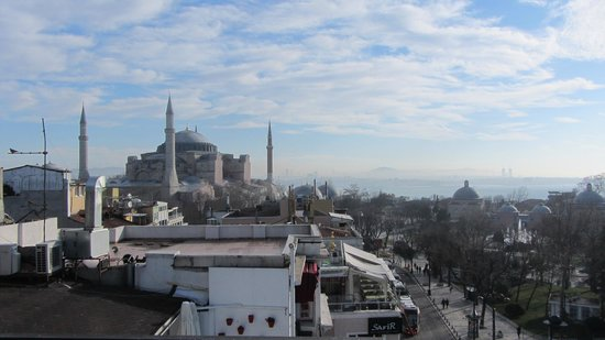 Ambassador Hotel: view from the terrace - Hagia Sofia