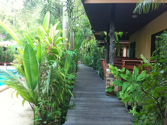 Sunda Resort: the path