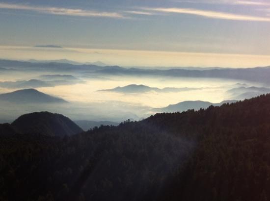 Nevado de Colima: vista desde el nevado