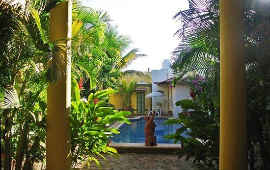 Casa Isabel:                   VIew when entering B&B