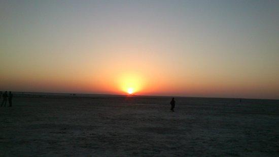 Sunset in White Desert