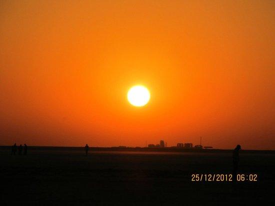Sunset in White Desert