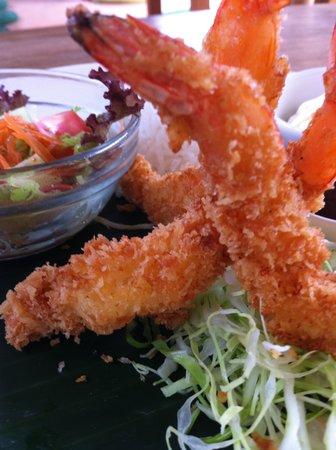 Warung Rakuen Asia: EBI FRY!!?? Japanese style fried prawns set