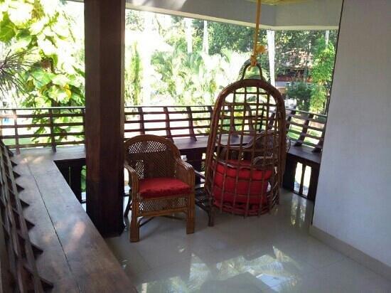Akhil Beach Resort:                                     swpool view.