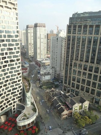 The Langham Shanghai Xintiandi: The view from my room (left side)