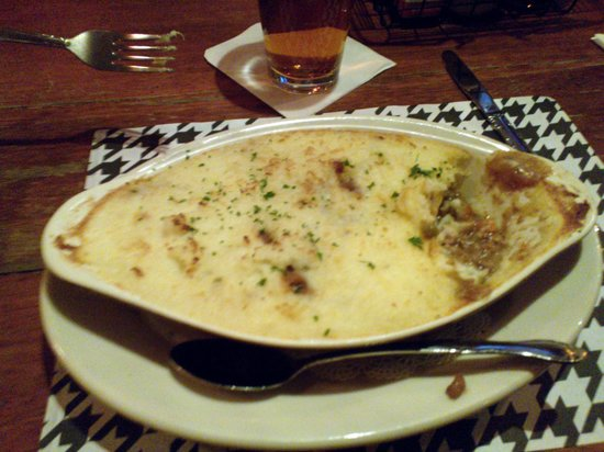 Houndstooth Pub: Shepherd's Pie $16  Made with Ground Lamb & Sirloin