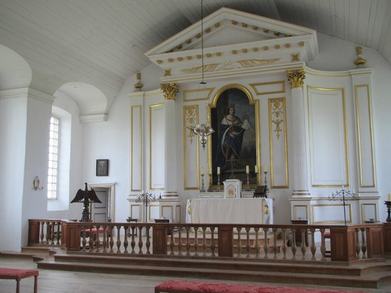 Fortress of Louisbourg National Historic Site:                   Inside the chapel