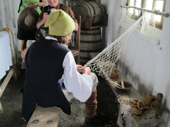 Fortress of Louisbourg National Historic Site:                   net making