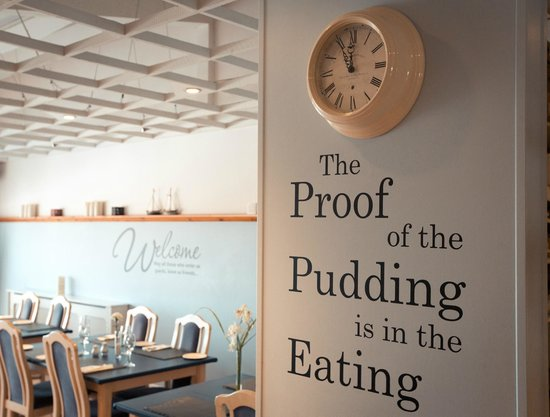 Waves Bar and Restaurant: Proof of the pudding