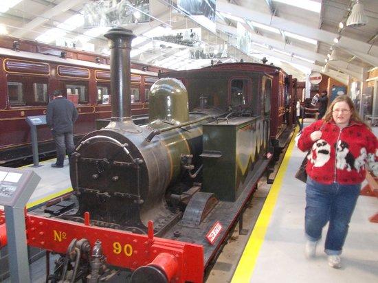 Downpatrick & County Down Railway : Downpatrick - Hall with old trains
