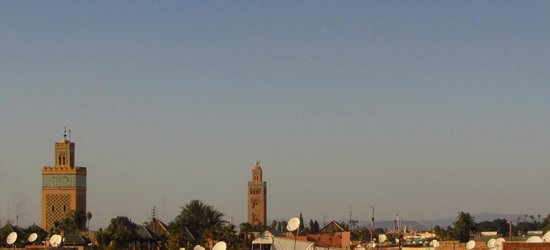 Riad Karim: sur la terrasse: vue sur la Koutoubia