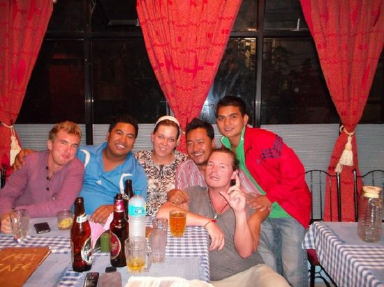 Yeti Cafe Restaurant and Bar : With Paul, Elina, Santosh Dai & friends