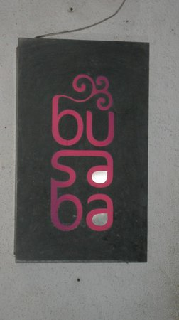 Busaba: the inviting sign on Mandlik Road, Colaba to a world of Pan-Asian cuisine