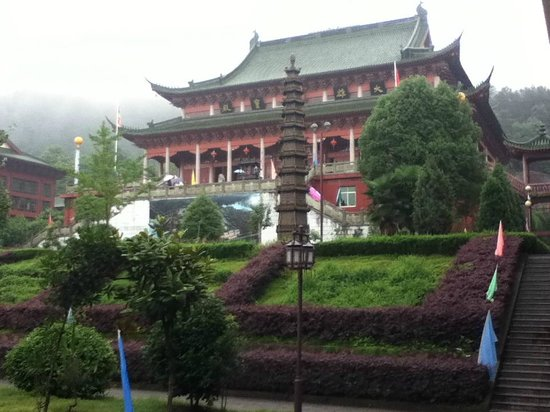 Fuzhou, China: A closer look of the main temple