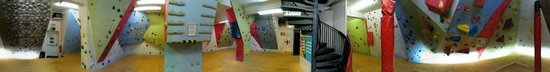 Glasgow Climbing Centre: Downstairs bouldering room
