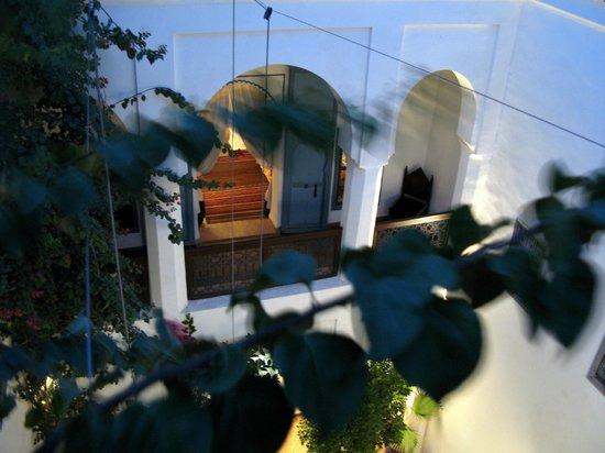 Riad Sekkat: vue d'une aile du 1er étage